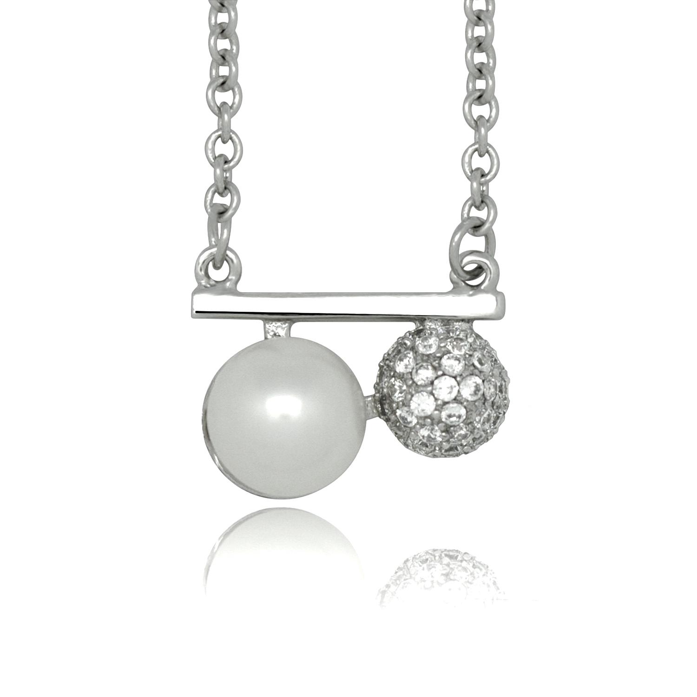 collier argent avec une perle d eau douce blanche tresor secret. Black Bedroom Furniture Sets. Home Design Ideas